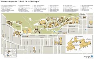 Plan du campus de l'Université de Montréal